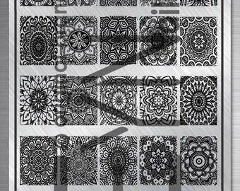 Nail art stamping plate Eynails Mandala