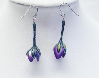 Multicolor Tulip Shape Earrings