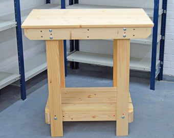 2.5FT Wooden Workbench  | Handmade | VERY STRONG & STURDY | Next Day Delivery | Top Quality!