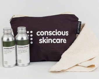 Cleansing Duo Skin Care Gift Set. Award Winning Make Up Remover and choice of Facial Cleanser in Lavender or Orange Blossom. Christmas Gift.