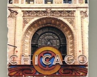 Chicago Theater Sign - Chicago, IL - Original Coaster