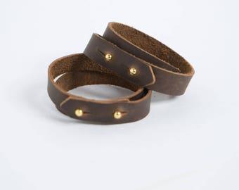 Leather Double Wrap Bracelet
