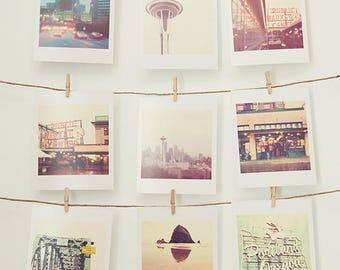 Pacific Northwest photos, mini print gift set, Seattle photography, Portland photograph, PNW prints, Space Needle, Starbucks art, under 20