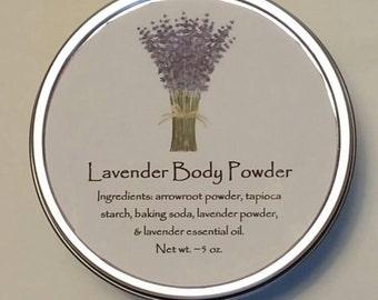 Lavender Body Powder, Powder, Body Powder, Talc Free Powder, Natural Powder, Bath Product, Handcrafted Powder, Dusting Powder, Handmade