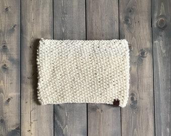 Seed stitch cowl - Cream