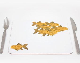 Goldfish Placemats | Underwater Placmeat | Ocean Placemat | Nortical Placemat |  Fish Tablemat | Childrens placemat | Kids placemat