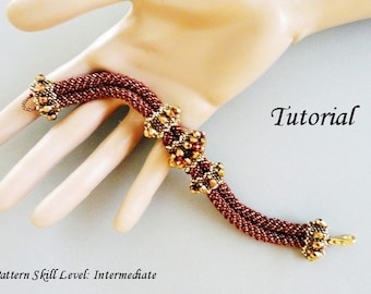 ARVEN beaded bracelet beading tutorial beadweaving pattern seed bead beadwork jewelry beadweaving tutorials beading pattern instructions