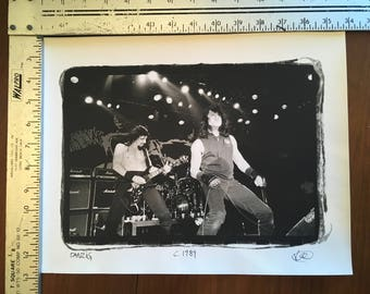 Danzig - Live at the Hollywood Palace Theatre 7/7/89 - Silver Gelatin Print photograph from the negative Misfits Danzig KRK