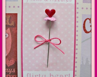 Flirty Heart Pin Topper