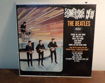 Vintage 1964 LP Record The Beatles Something New Capitol Records T-2108 Mono Very Good Condition 15538