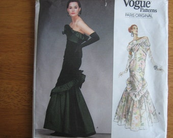 Vogue Paris Original Pattern 2213 NINA RICCI Misses' Dress      1988       Uncut