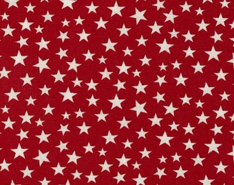 Made in the USA Fabric Red with White Stars (by the yard)