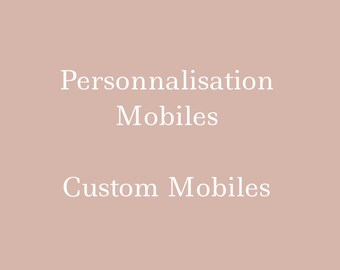 Baby mobile mobile custom choice of customizable colors