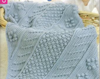 Baby's Diagonal Aran Afghans ~  Crochet, Soft Cover Book ~  Leisure Arts ~  New Book