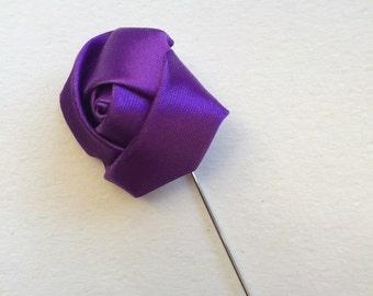 Purple Lapel Flower, Flower Lapel Pin, Mens Lapel Pin, Lapel Flower, Flower Lapel Pin, boutonnière, Men's Lapel Pin, Flower Lapel Pin, Lapel