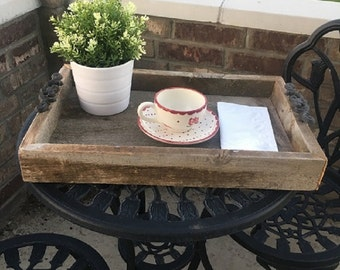 Authentic Barn Wood Tray