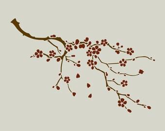 Cherry wood. Cherry stencil. (Ref 386) adhesive vinyl stencil
