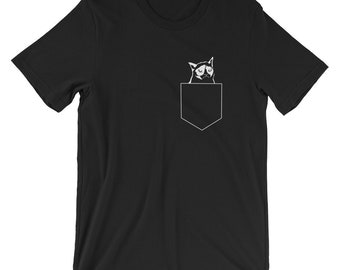 Pocket Cat T-shirt Animal Lover Tee