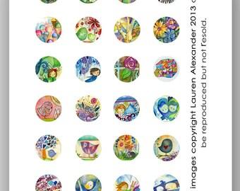 Circles 1 Inch - Lauren Alexander Mix 2 - 2013 PDF download art