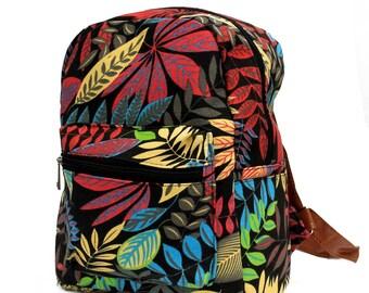 Backpack, jungle, leaf design
