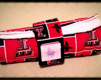 Changing Pad, TEAM Travel Changing Pad for Diaper Bag, Travel Changing Mat for Babies and Toddlers Red/Black Texas Tech/White Terry