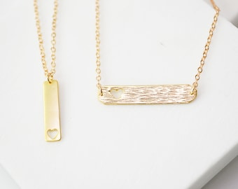 Gold Bar Necklace, Bar necklace, Gold Necklace Bar, Dainty Gold Necklace, Vertical Bar Necklace, Everyday Necklace,