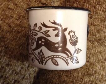 Vintage émail de Mug (tasse). Russie