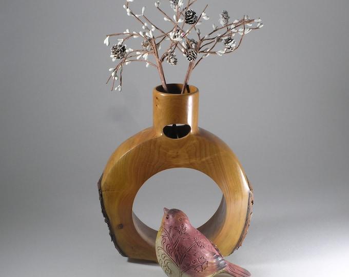 Natural edge decorative vase