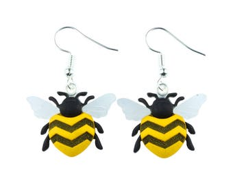 TFB - BUZZY BEE Dangle Earrings - Complete with gift box