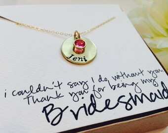 Set of 6: four personalized Bridesmaid gifts,Bridesmaid necklace with gift box,Bridal party,wedding jewelry, Best friend necklaces
