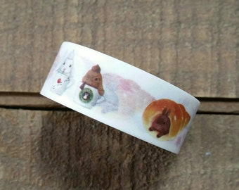Dessert Bunny Washi Tape Roll