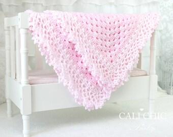 Crochet PATTERN 143 - Freesia- Baby Blanket PATTERN 143 - Instant Download
