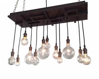 Mid Century Light, Modern Lighting, Modern Chandelier, Arts and Crafts Chandelier, Craftsman Lighting