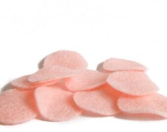 "30 pcs, 1.5"" Baby Pink Felt Circles for Fascinator, Hair Clip, Brooch backs, appliques"