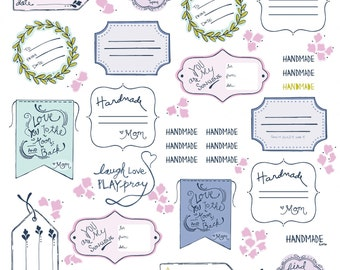 Multi Quilt Labels from the Sew It Quilt It Collection by Amy Hamberlin for Henry Glass, Choose Your Cut