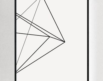 White Large Prints, Large Wall Prints, Wall Art Prints, Large Black and White Print, Art Modern, Contemporary Art, Large Artwork, Digital