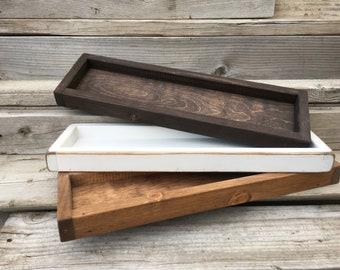 Wood tray, Bathroom Tray, Rustic Wood Tray, Wooden Tray,Farmhouse Tray, Decorative Coffee Table Tray, Accent Table Tray, Catch All Tray