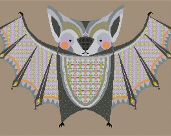 Batacula!! Vampire Bat cross stitch pattern PDF instant download - includes chart and instructions