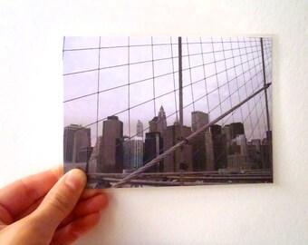Postal Card - Poetic Landscape 1, Brooklyn Bridge, New York, USA