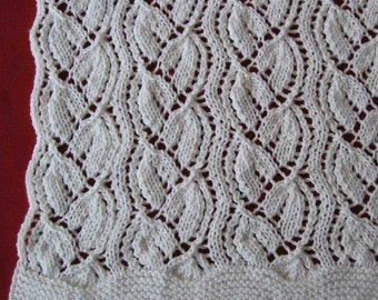 Wedding Throw knitting pattern (pdf digital download)