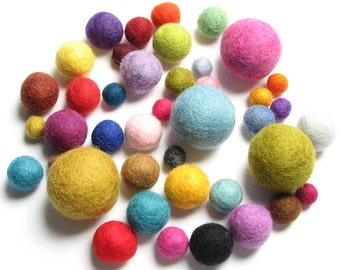 Medley Pack - 40PC Mix Felt Balls