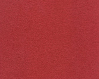 Red Fleece, Fabric By The Yard
