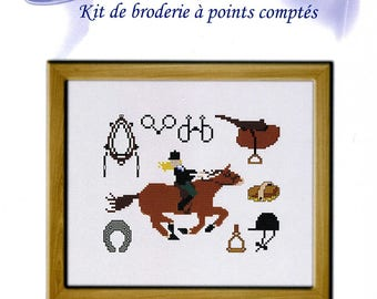 cross stitch Kit counted embroidery leisure: horse