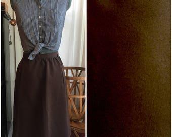 Brownie Batter High Waisted Skirt