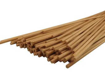 "25 ct 1/8"" x 12"" Natural Wood Dowel Rods Thin"