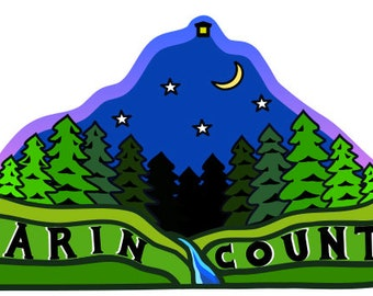 Marin County 4.5 x 2.5 Sticker