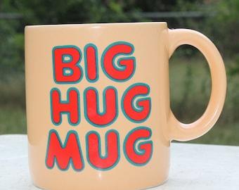 Vintage Big Hug Mug Coffee Cup Ceramic 80's