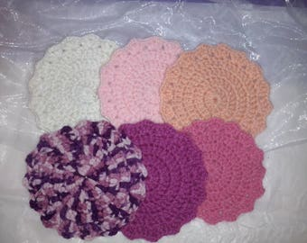 Set of coaster pink