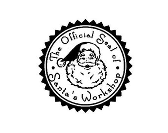 The official Seal of Santa's workshop Christmas rubber stamp
