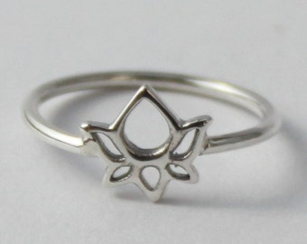 Lotus Sterling silver Intention Ring, Beautiful, Spititual Symbol.